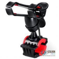 Велотримач для телефону жабка чорний з червоним