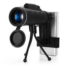 Монокуляр MONOCULAR KL-1040 з триногою і кліпсою 40x60 Black