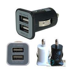 Автомобильный USB адаптер питания USAMS 3.1А