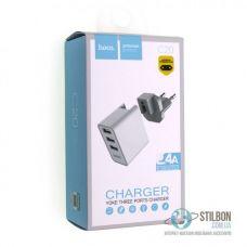 Зарядное устройство HOCO C20 YOKE 3 USB