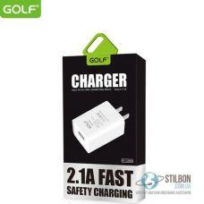 Сетевое зарядное устройство Golf GF-U206S usb 2.1A FAST 10W