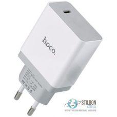 Мережевий зарядний пристрій Hoco C24 Bele QC3.0 Type-C 18W White