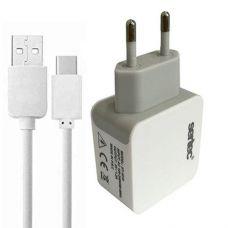 СЗУ SERTEC ST-1010 6W 1.2A + кабель USB Type-C White