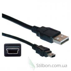 Mini USB кабель 17 см черный