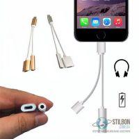 """Розгалужувач для Apple iPhone 7/7 plus/8/X - Lightning 8 pin """"тато"""" - ligtning/mini jack 3.5 """"мама"""""""