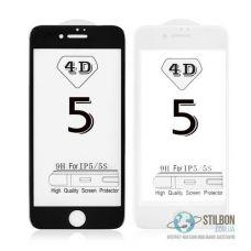 Захисне скло для Apple iPhone 5/5S/SE Full Cover 4D