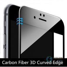 Захисне скло для Apple iPhone 6/6S 3D заокруглене White/Black