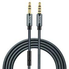 Кабель Hoco UPA04 Noble sound series AUX audio (with mic) 1m Grey