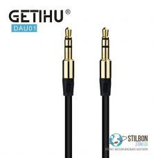 AUX кабель GETIHU DAU01 MiniJack 3.5 mm F - MiniJack 3.5 mm F 1m
