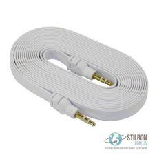 AUX кабель MiniJack 3.5 mm F-F 3м плоский