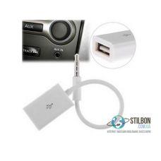 AUX кабель USB мама - Jack 3.5 тато 12 см