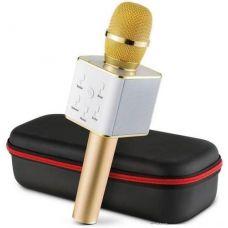 Бездротовий мікрофон караоке Kronos bluetooth Q7 Karaoke з чохлом Gold