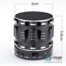 Портативная Аудио-колонка Bluetooth/AUX/TF-card 3W Black