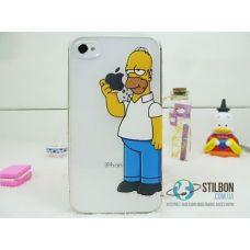 Чохол для Apple iPhone 4 4S Гомер Simpsons Пластик (Чехол Накладка)