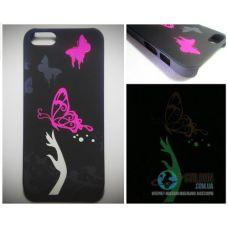 Чохол Apple iPhone 5 5S SE Світиться в Темряві Butterfly Soft-Touch Пластик (Чехол Накладка)