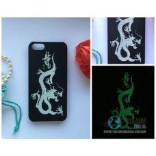 Чохол Apple iPhone 5 5S SE Світиться в Темряві Dragon Soft-Touch Пластик (Чехол Накладка)