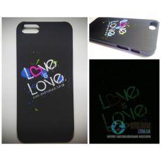 Чохол Apple iPhone 5 5S SE Світиться в Темряві Love Soft-Touch Пластик (Чехол Накладка)