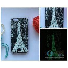 Чохол Apple iPhone 5 5S SE Світиться в Темряві Paris Soft-Touch Пластик (Чехол Накладка)