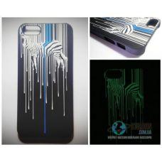 Чохол Apple iPhone 5 5S SE Світиться в Темряві Zebra Soft-Touch Пластик (Чехол Накладка)