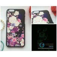 Чохол Apple iPhone 6 6S Світиться в Темряві Flower Soft-Touch Пластик (Чехол Накладка)