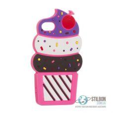 Чохол 3D Ice Cream для Apple iPhone 7/8 силіконовий Pink