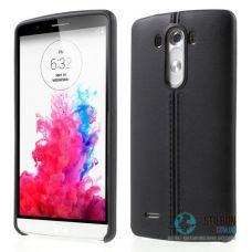 Чохол LG G3 D855 D858 D859 Шкіра Black Soft TPU (Чехол)