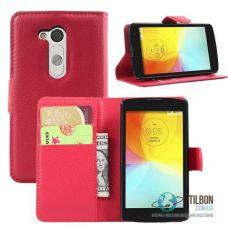 Чохол-Книжка LG L Fino Dual D285 Шкіра Red (Чехол)