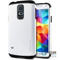 Броньований Чохол Samsung Galaxy S5 i9600 G9000 SPIGEN SlimArmor White (Чехол)