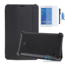 Чохол-Книжка Samsung Tab 4 7.0 Black + Плівка + Стилус + Фіксатор-Рибка (Чехол)