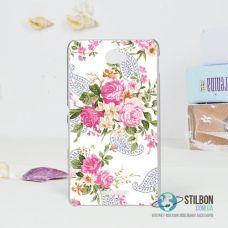 Чохол-Накладка Sony Xperia E4 Квіти Пластмасса (Чехол)