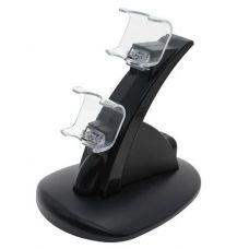 Зарядна док станція для зарядки 2 геймпадів DualShock 4 PS4 Black