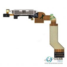 Шлейф порта зарядки для Apple iPhone 4S Original White