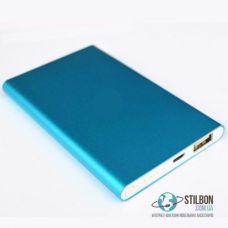 Портативний зарядний пристрій Power Bank 4000mAh Blue RoHS Ультратонкий
