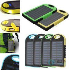 Зовнішній акумулятор Solar Power Bank ES500 6000 mAh з сонячною панеллю
